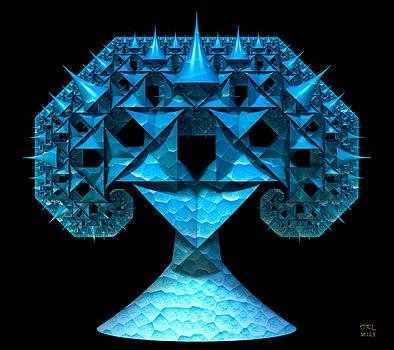 Manny Lorenzo - Caribbean Blue Pythagoras Tree Fractal