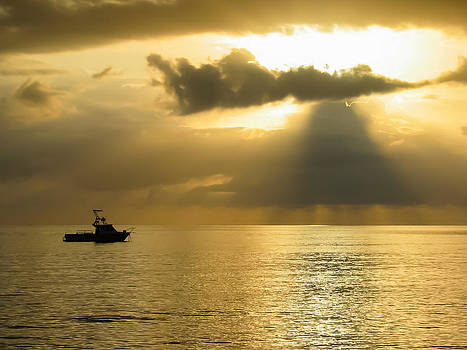 Caribbean Sunset by Bob Mintie