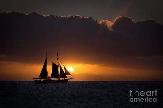 Caribbean Sunset by doug hagadorn by Doug Hagadorn