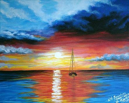 Caribbean sunset by Naeema Bacchus