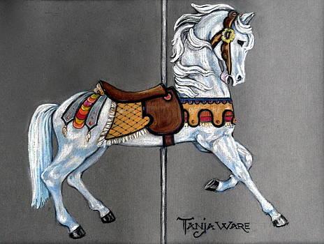 Carl Carmel Carousel Horse by Tanja Ware