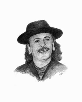 Carlos Santana by Lou Ortiz