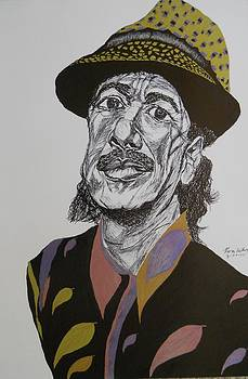 Carlos Santana by Ron Anthony