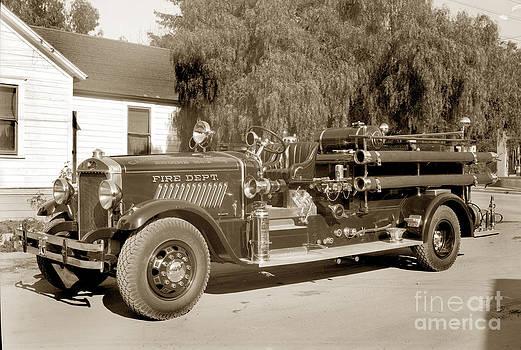 California Views Mr Pat Hathaway Archives - Carmel Fire Department engine No. 2 circa 1933