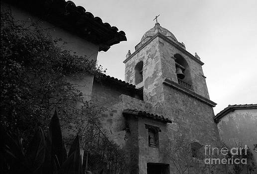 Carmel Mission Bell Tower by James B Toy