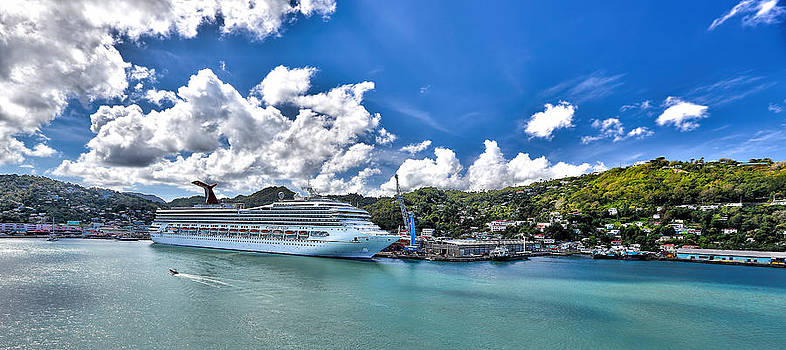 Carnival Valor at St. Lucia port  by Craig Bowman
