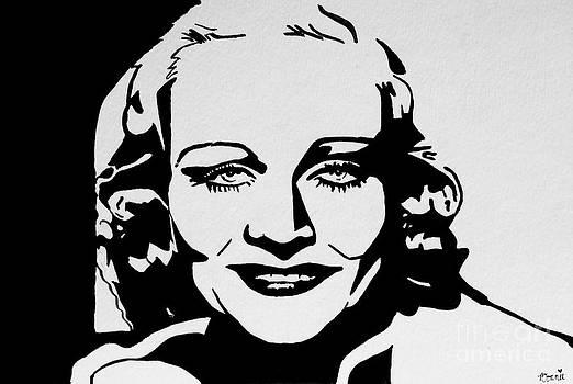 Carole Lombard #2 by Bonnie Cushman