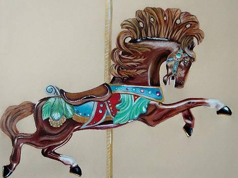 Carousel horse by Lea Sutton
