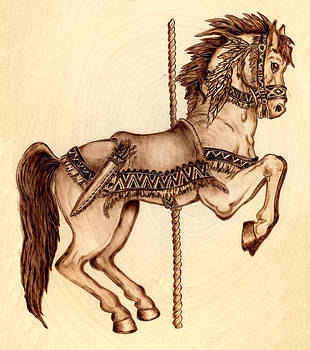 Carousel Indian Pony by Danette Smith