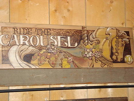 Carousel Sign by Lorna Babcock