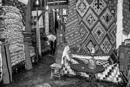 Carpet store in Marrakech by Ellie Perla