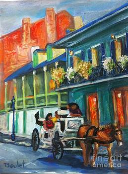 Carriage Ride on Dumaine Street by Beverly Boulet