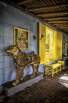 Lynn Palmer - Carrousel Tiger and Yellow Bench
