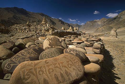 Colin Monteath - Carved Buddhist Mani Stones Zangla