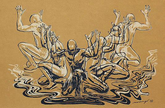 Maria Arango Diener - Carved Men