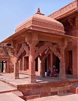 Devinder Sangha - Carved Red Stone Entrance