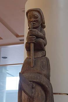 Carved Totem Pole by Devinder Sangha