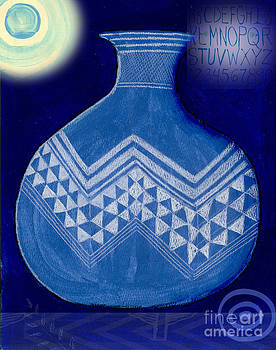 Carved Vase Under the Moon by Elaine Jackson