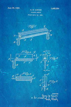 Ian Monk - Carver Package Handle Patent Art 1923 Blueprint
