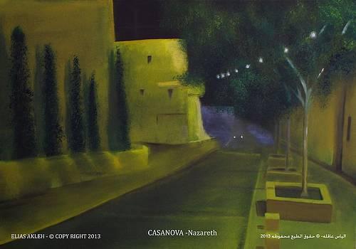 Casanova Street in Nazareth by Elias Akleh
