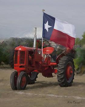 Case Tractor-Texas Flag  5534 by Fritz Ozuna