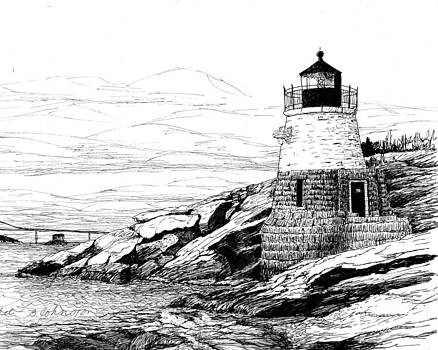 Castle Hill Lighthouse by Beth Johnston
