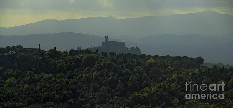 Castle in Tuscany Italy by Robert Leon