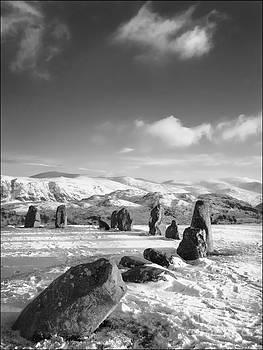 Castlerigg Stone Circle Winter No1 Mono by George Hodlin
