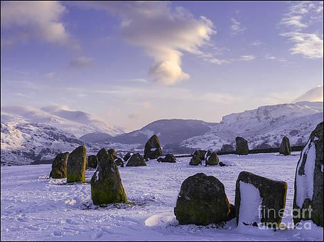Castlerigg Stone Circle Winter No2 by George Hodlin