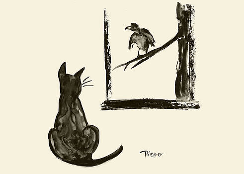 Betty Pieper - Cat and Bird