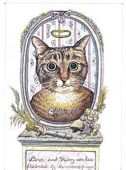 Cat angel by Kyra Munk Matustik