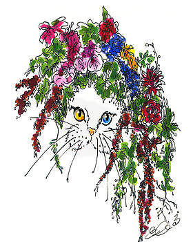 Cat Bouquet I by Elia Peters