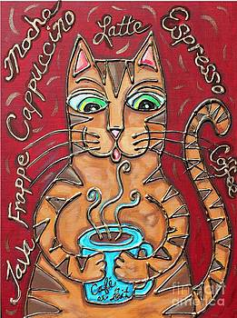 Cat Cafe au Lait by Cynthia Snyder