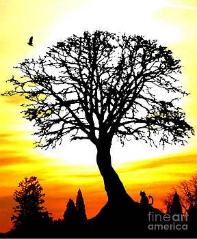 Nick Gustafson - Cat Crow and Sunset Tree