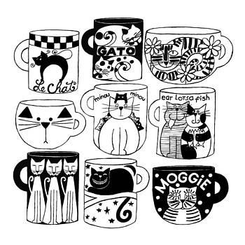 Cat Cups  by Barbara Esposito