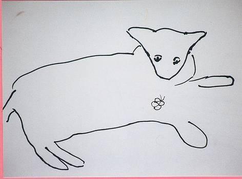 Cat drawing by AJ Brown