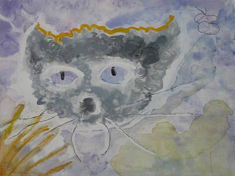 Cat face as a cloud by AJ Brown