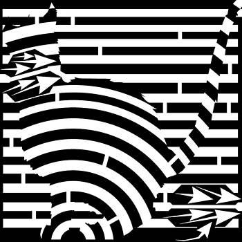 Cat Gonna Jump Maze by Yonatan Frimer Maze Artist