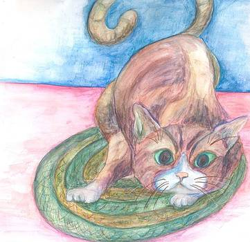 Cat in Action by Cherie Sexsmith
