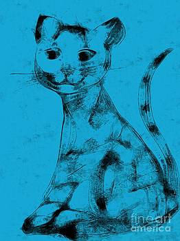 Cat in Blue Smile by Dana Hermanova