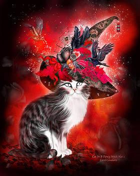 Carol Cavalaris - Cat In Fancy Witch Hat 1
