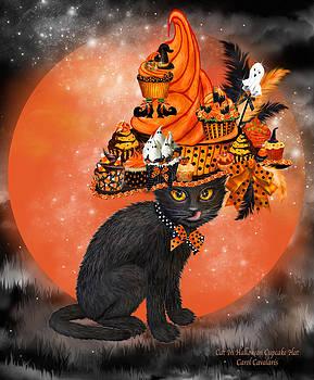 Carol Cavalaris - Cat In Halloween Cupcake Hat