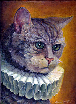 Cat is wearing collar by Nonna Mynatt
