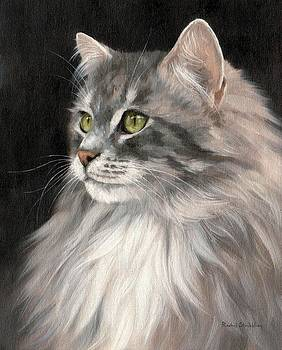 Cat Portrait Painting by Rachel Stribbling