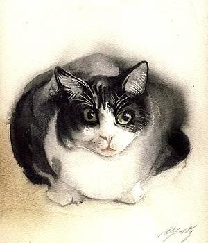 Alfred Ng - cat watercolor