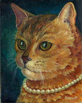 Cat with the pearl necklace by Nonna Mynatt