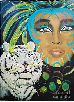 Cat Woman by JackieO Kelley