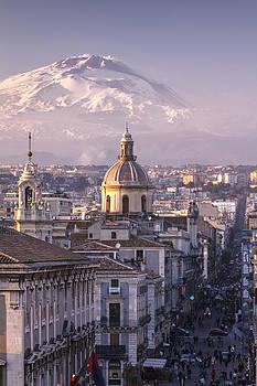 Catania and Mt. Etna by Antonio Violi