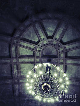 Cathedral Ceiling With Chandelier by Sharon Dominick