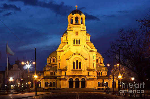 Cathedral church Saint Alexandar Nevsky in Sofia Bulgaria by Kiril Stanchev